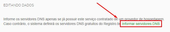 Informar Servidor DNS